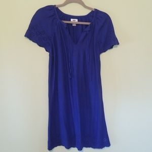 Old Navy casual blue short sleeve dress